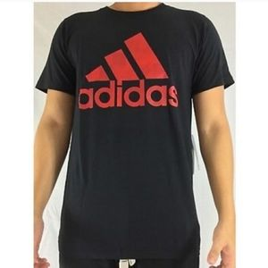 ⚽️NWT BLACK & RED ADIDAS MENS SHIRT